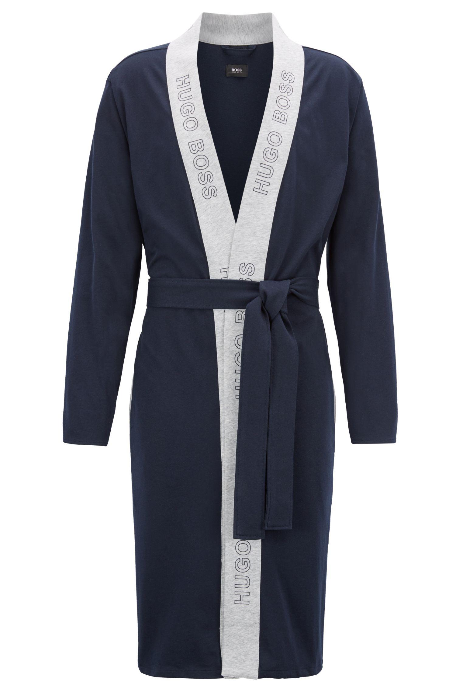Peignoir en jersey simple de coton brossé
