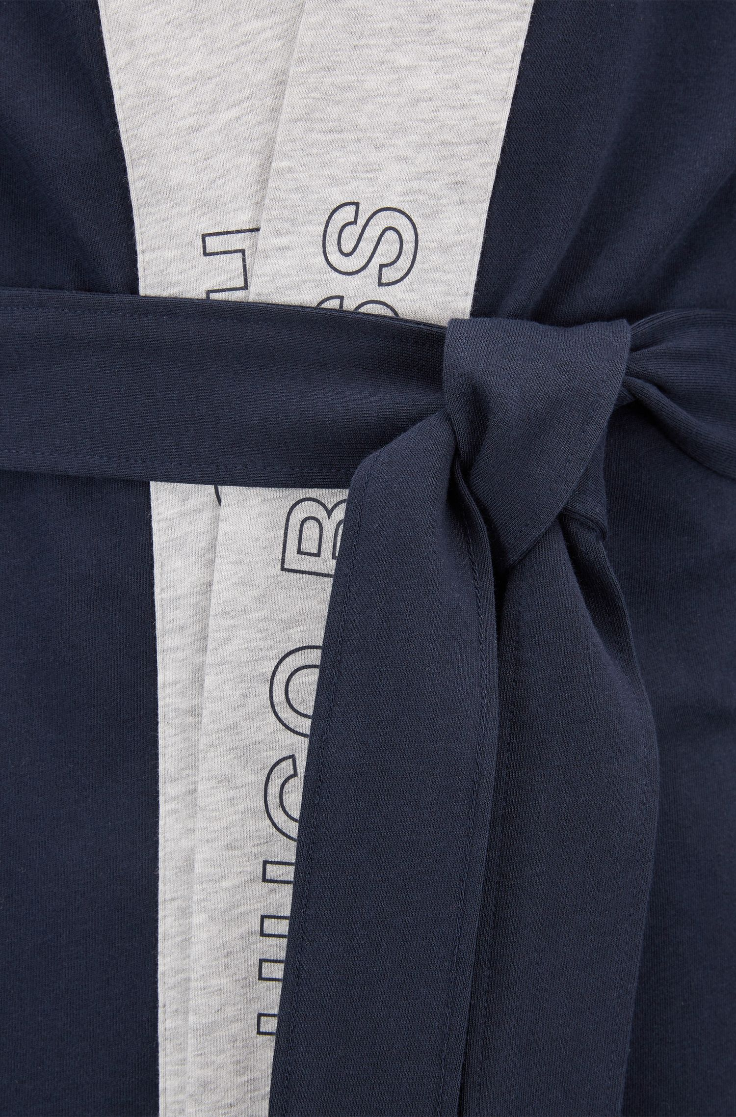 Batín de algodón cepillado en punto sencillo