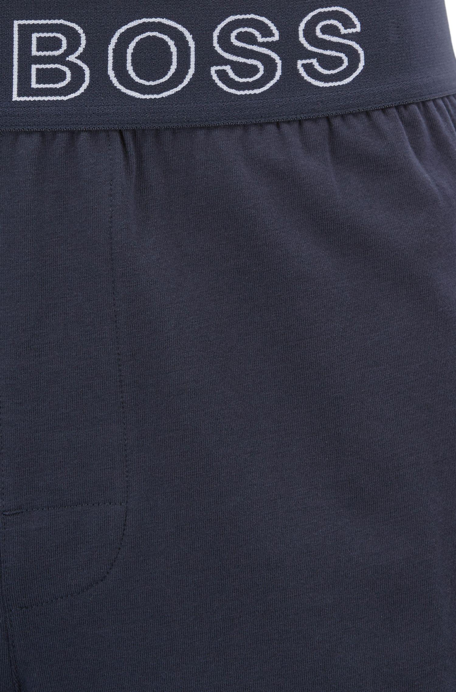 Pyjama-Shorts aus Stretch-Baumwolle mit Jacquard-Logo am Bund
