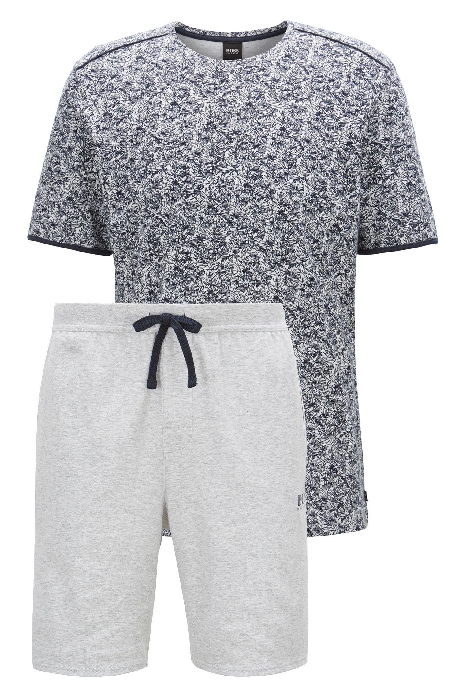 Pyjama en coton interlock à imprimé floral