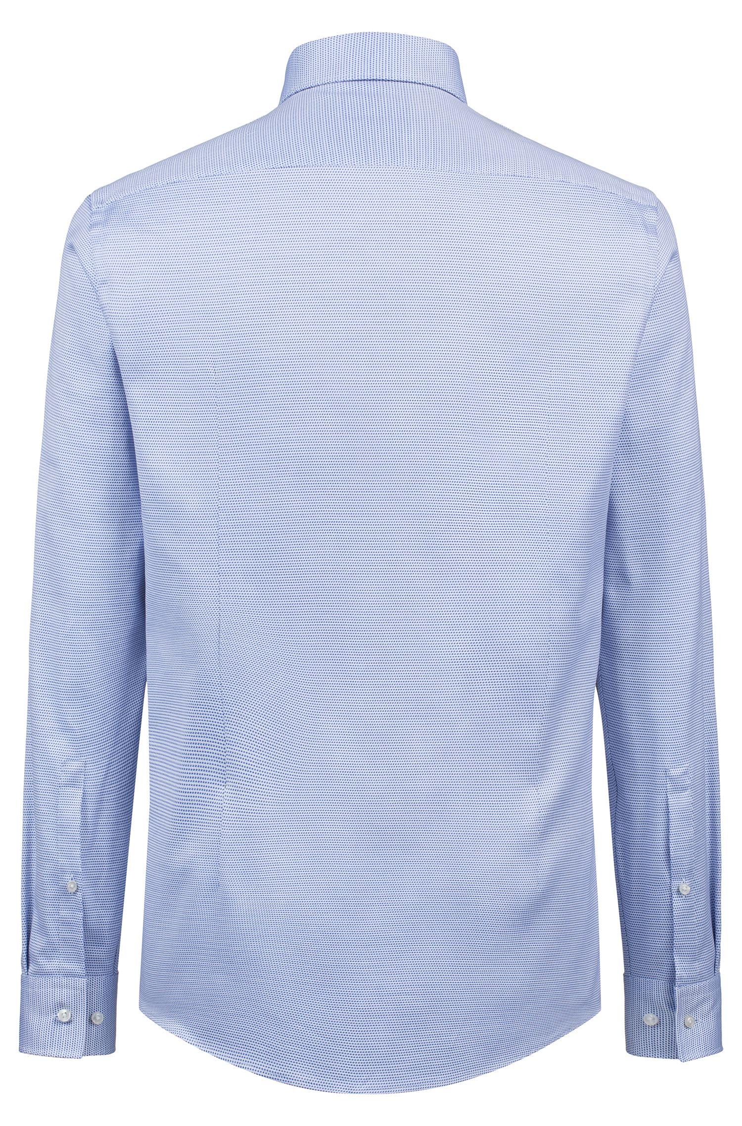 Chemise Slim Fit en coton structuré, Bleu