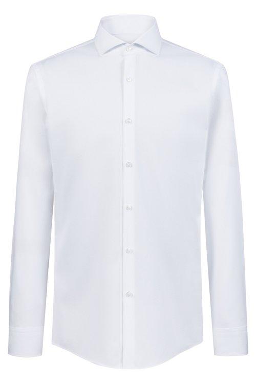 Hugo Boss - Camisa slim fit en algodón con cuello italiano - 1
