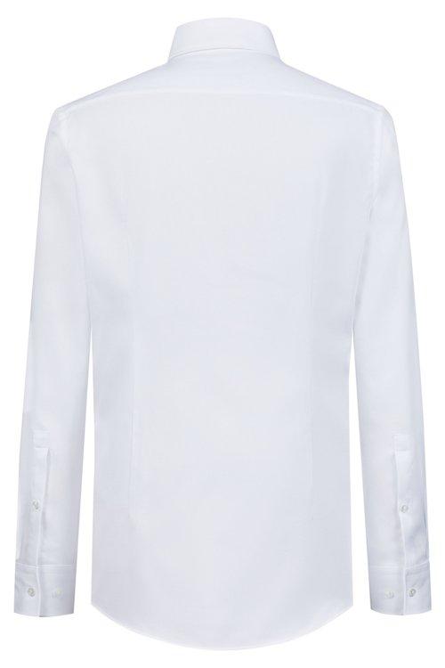 Hugo Boss - Camisa slim fit en algodón con cuello italiano - 4