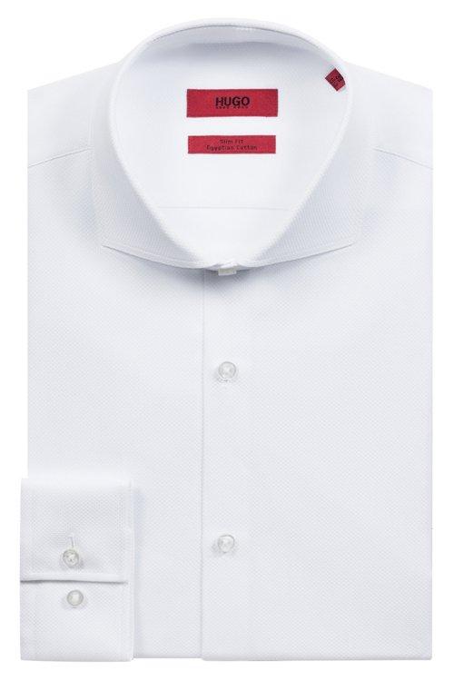 Hugo Boss - Camisa slim fit en algodón con cuello italiano - 5