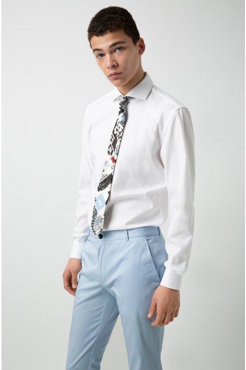 Hugo Boss - Camisa slim fit en algodón con cuello italiano - 2