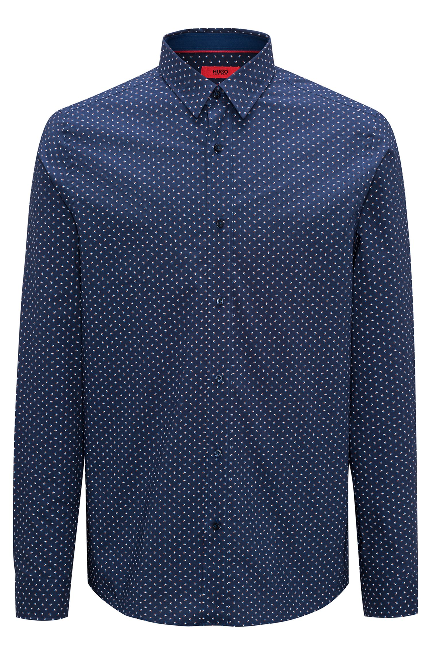 Camisa relaxed fit de algodón con estampado integral