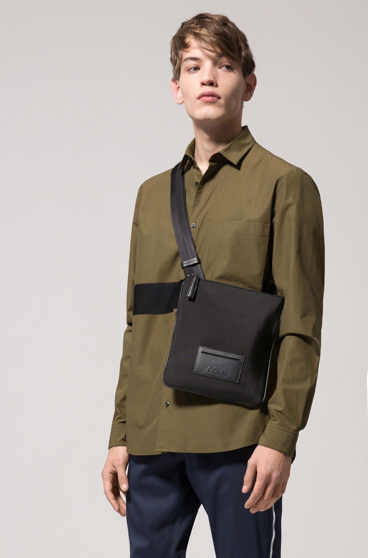 Relaxed-Fit Hemd aus Baumwoll-Twill mit Blockstreifen