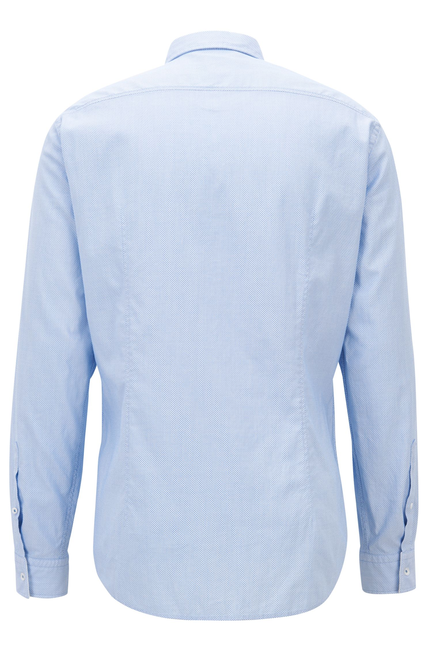 Hugo Boss - Slim-fit shirt in washed dobby cotton - 3