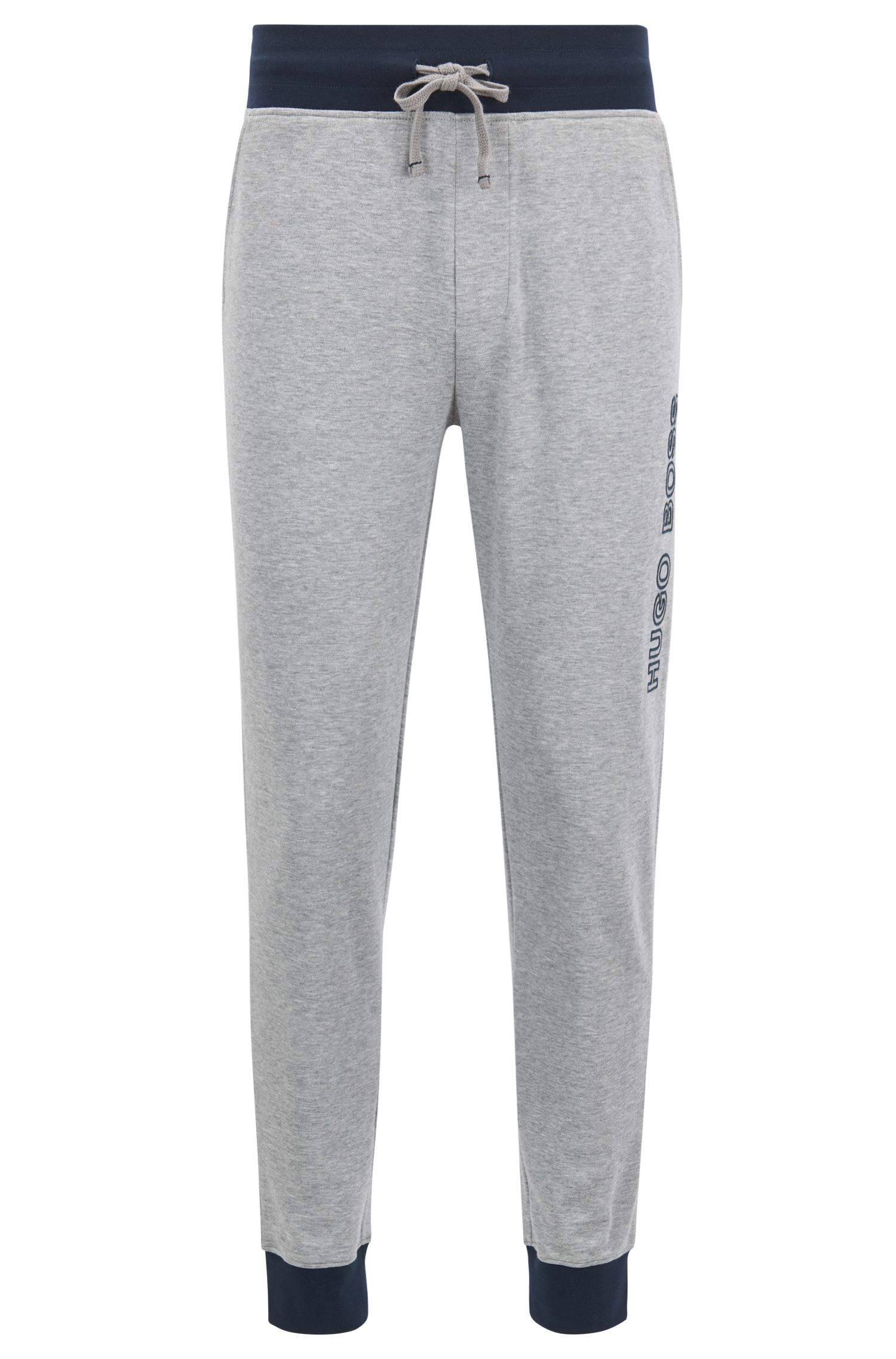 Cuffed jogging bottoms in cotton with contrast details