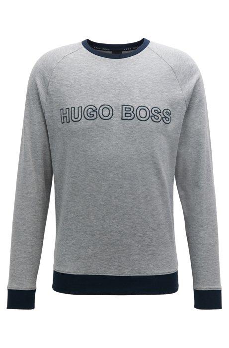 HUGO BOSS Sweat en jersey à rayures et logo brodé 7UYozM