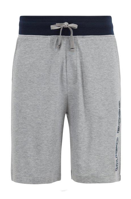 Drawstring-waist loungewear shorts with embroidered logo BOSS kJxOO92a