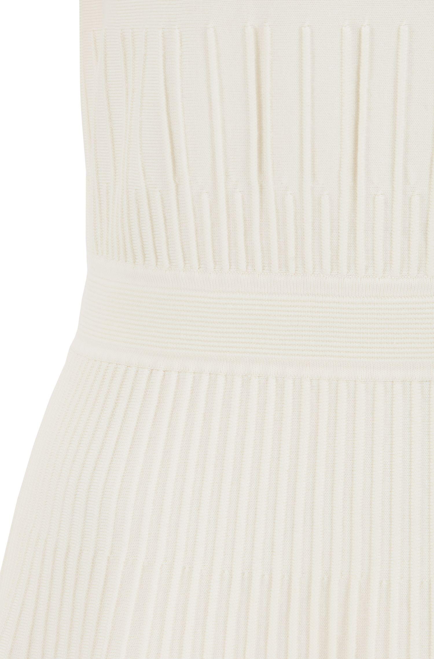 Robe Slim Fit en maille de coton stretch mélangé, Chair