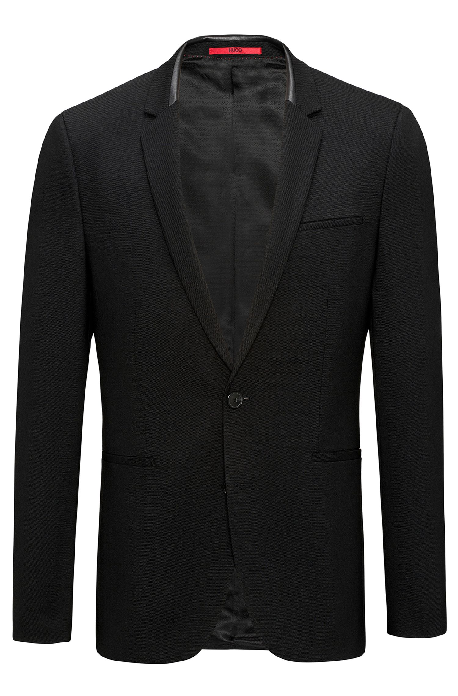Extra-slim-fit jacket in comfort-stretch fabric
