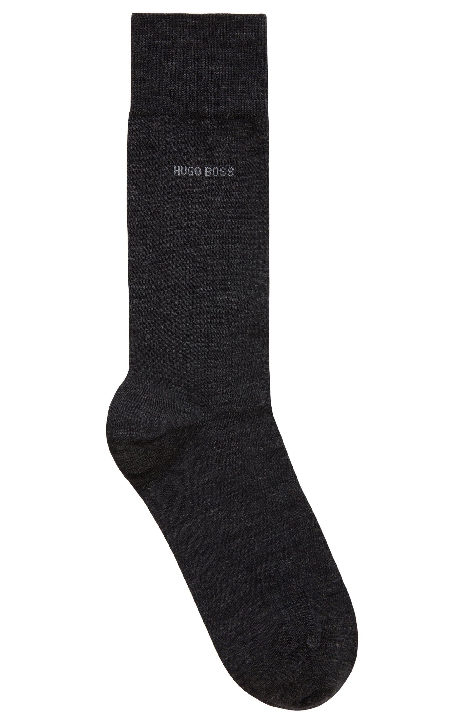 Socken aus Schurwoll-Mix mit Baumwolle und Naturetexx®-Finish, Dunkelgrau