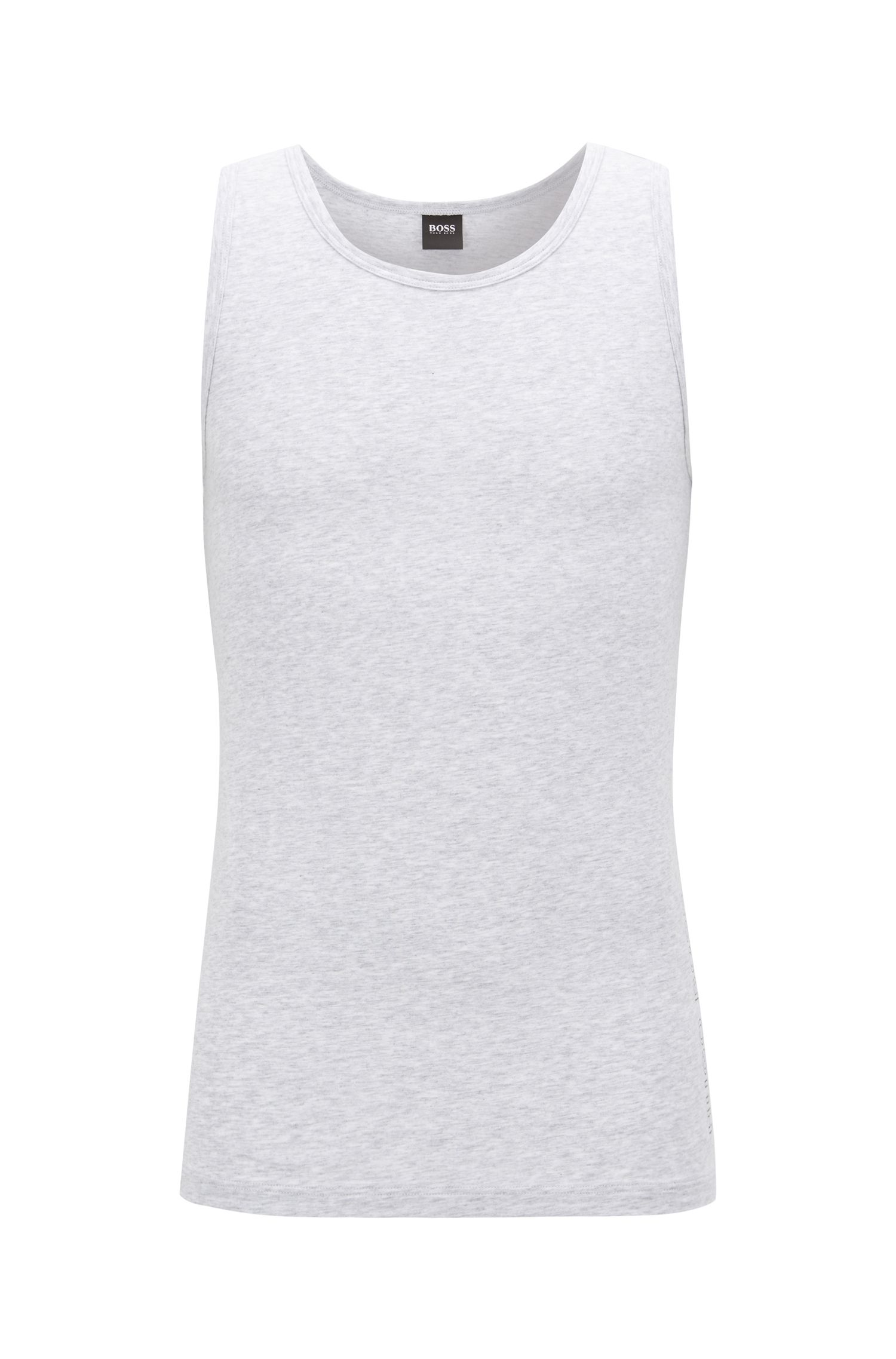 Slim-fit crew-neck vest in single jersey