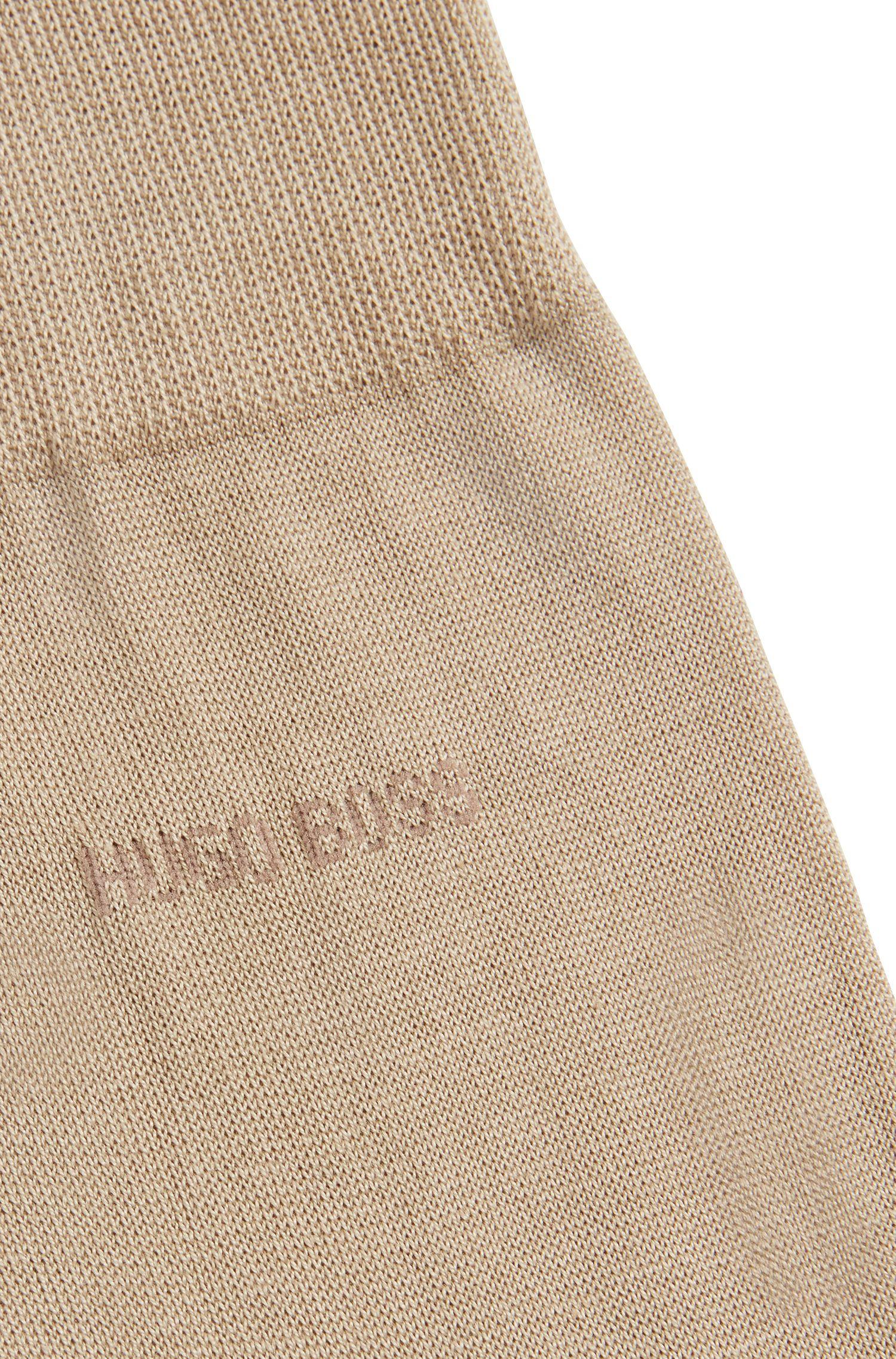 Calcetines de algodón egipcio mercerizado con suela reforzada, Beige