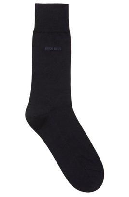 Fil d'Ecosse socks in mercerised Egyptian cotton, Dark Blue