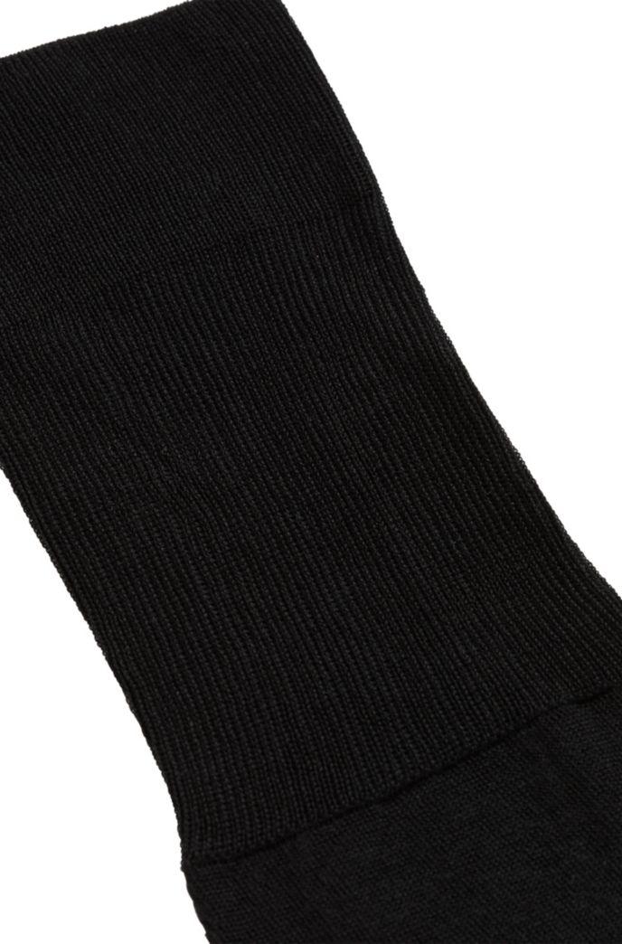 Knielange sokken van gemerceriseerde Egyptische stretchkatoen