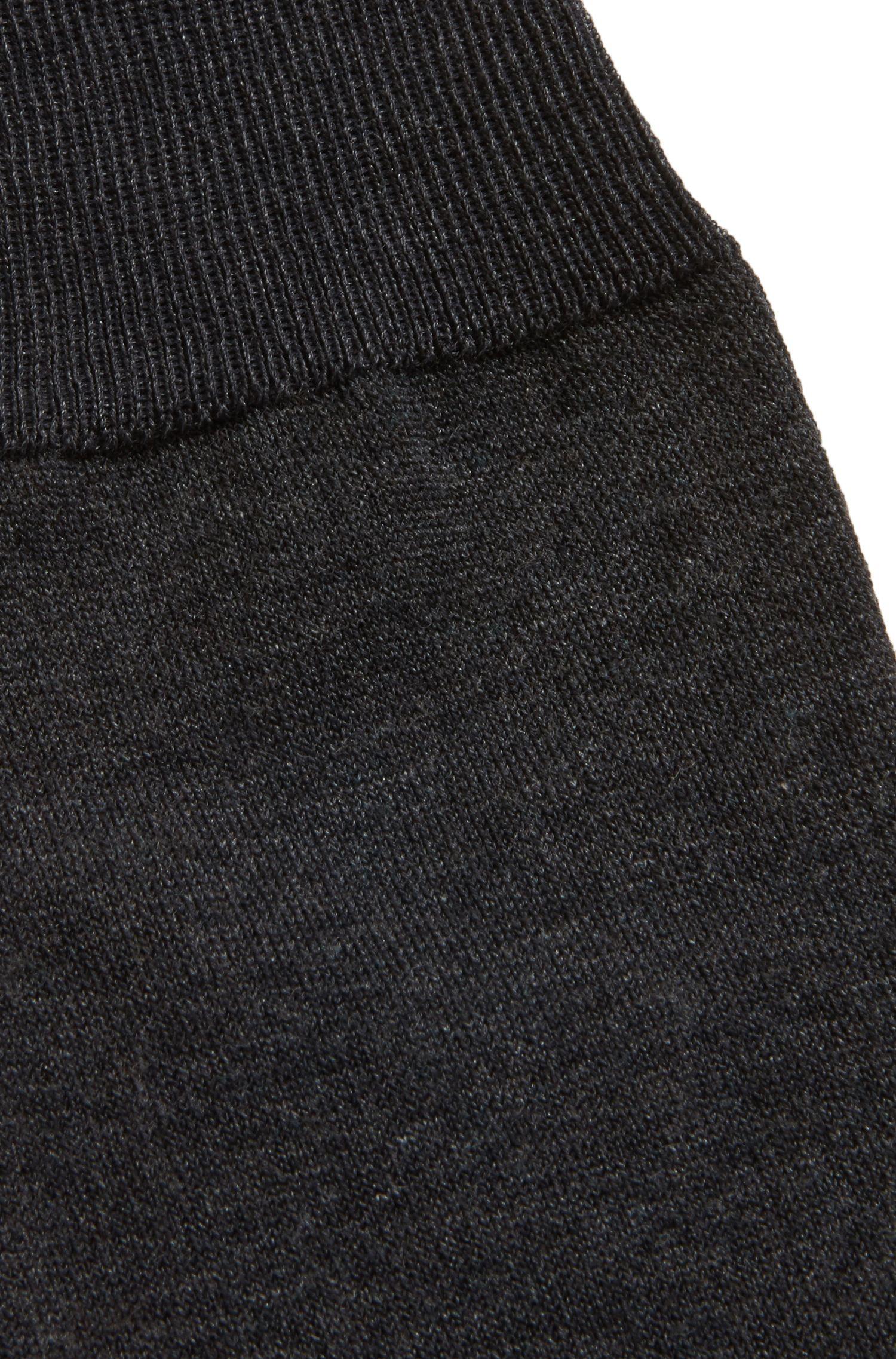Knielange sokken van gemerceriseerde stretchkatoen, Antraciet