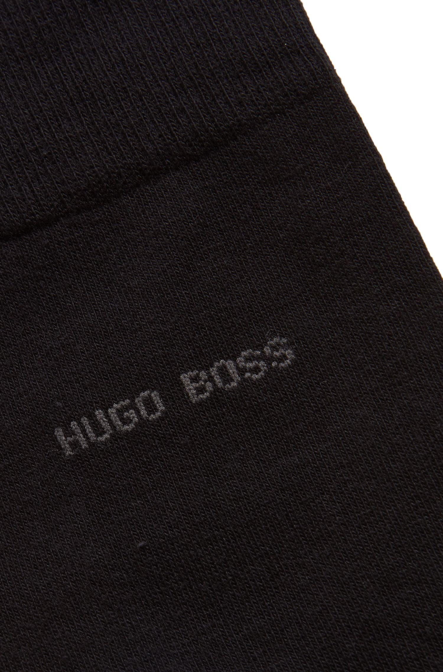 Calze in cotone ecologico pettinato con tessuto elasticizzato, Nero