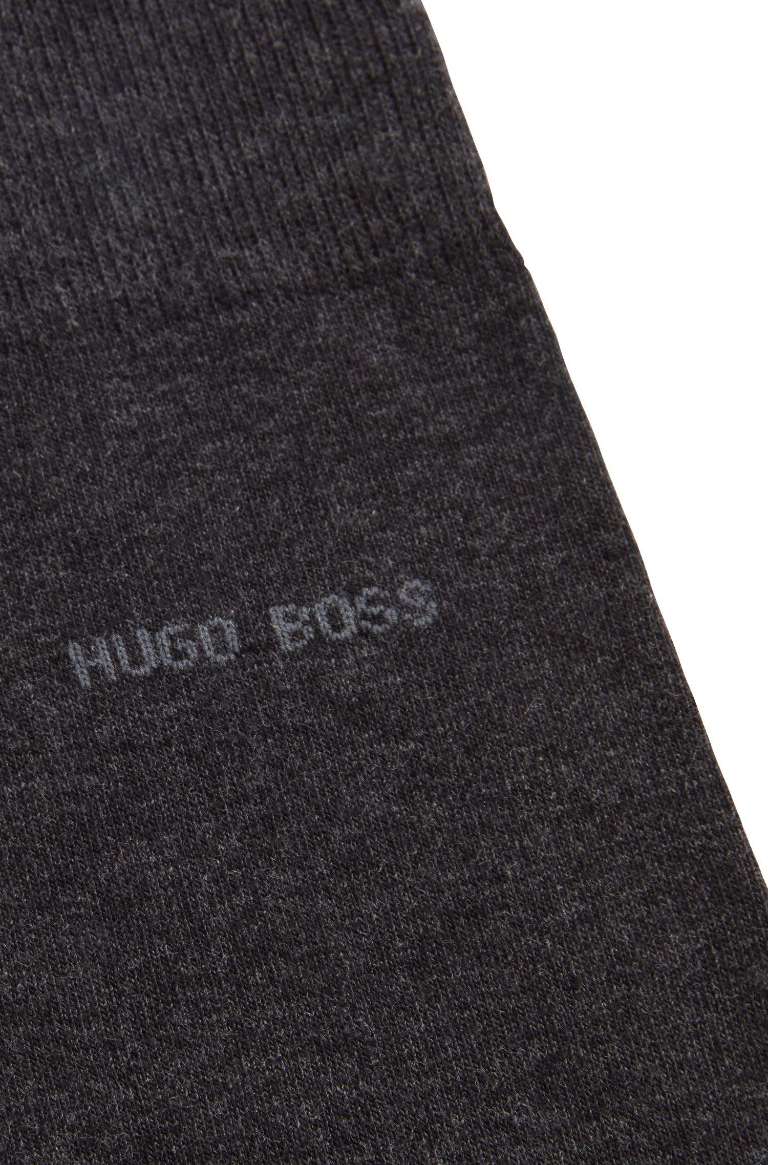 Calze in cotone ecologico pettinato con tessuto elasticizzato, Grigio antracite