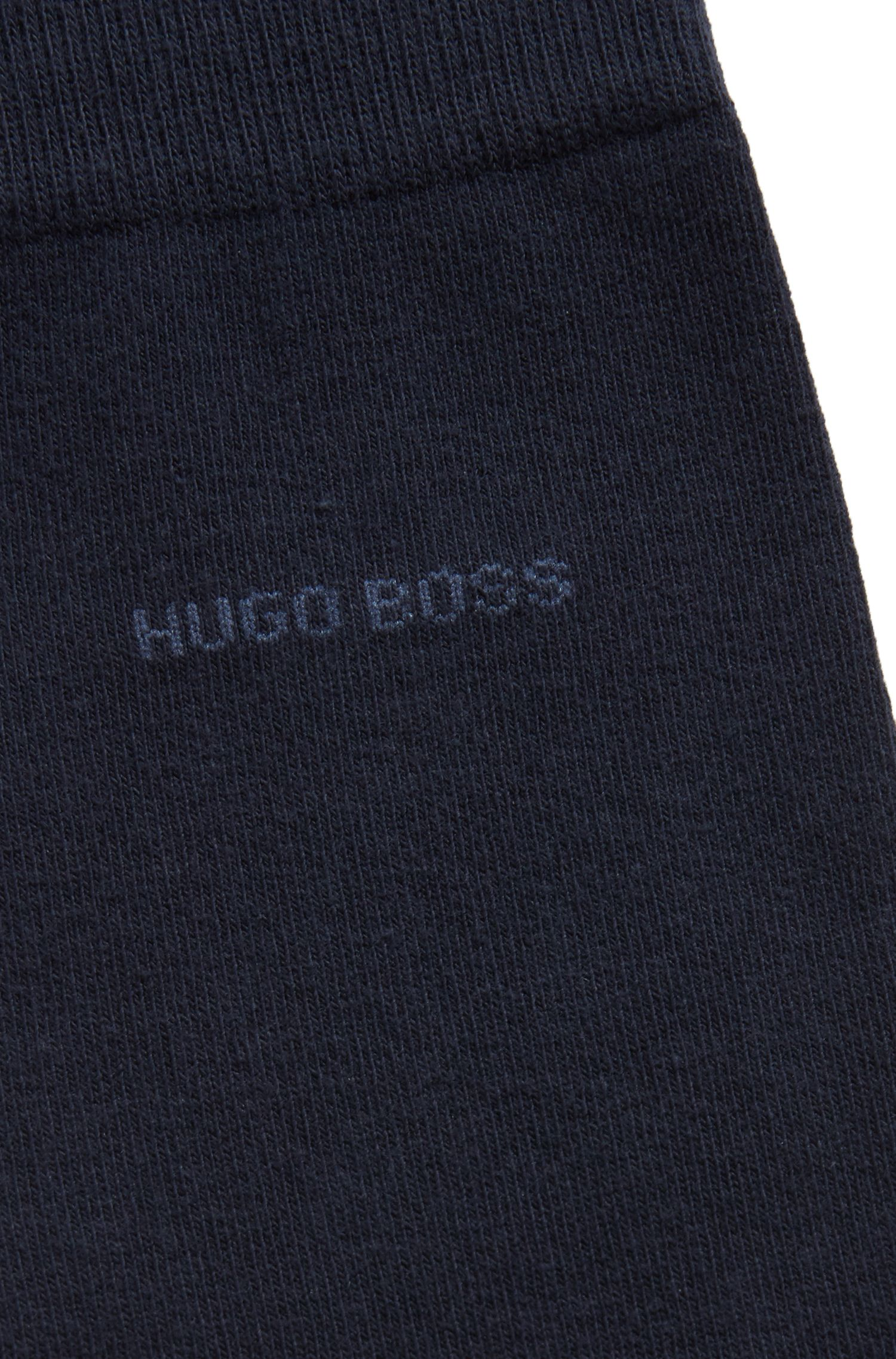 Regular-length socks with plush soles, Dark Blue
