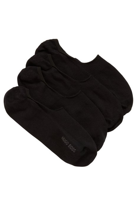Two-pack of invisible socks in a cotton blend, Black