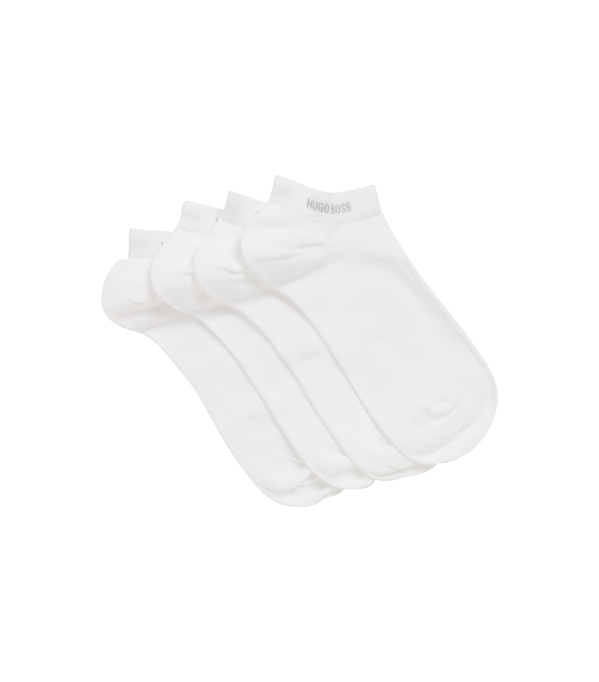 Two-pack of cotton-blend ankle socks, White