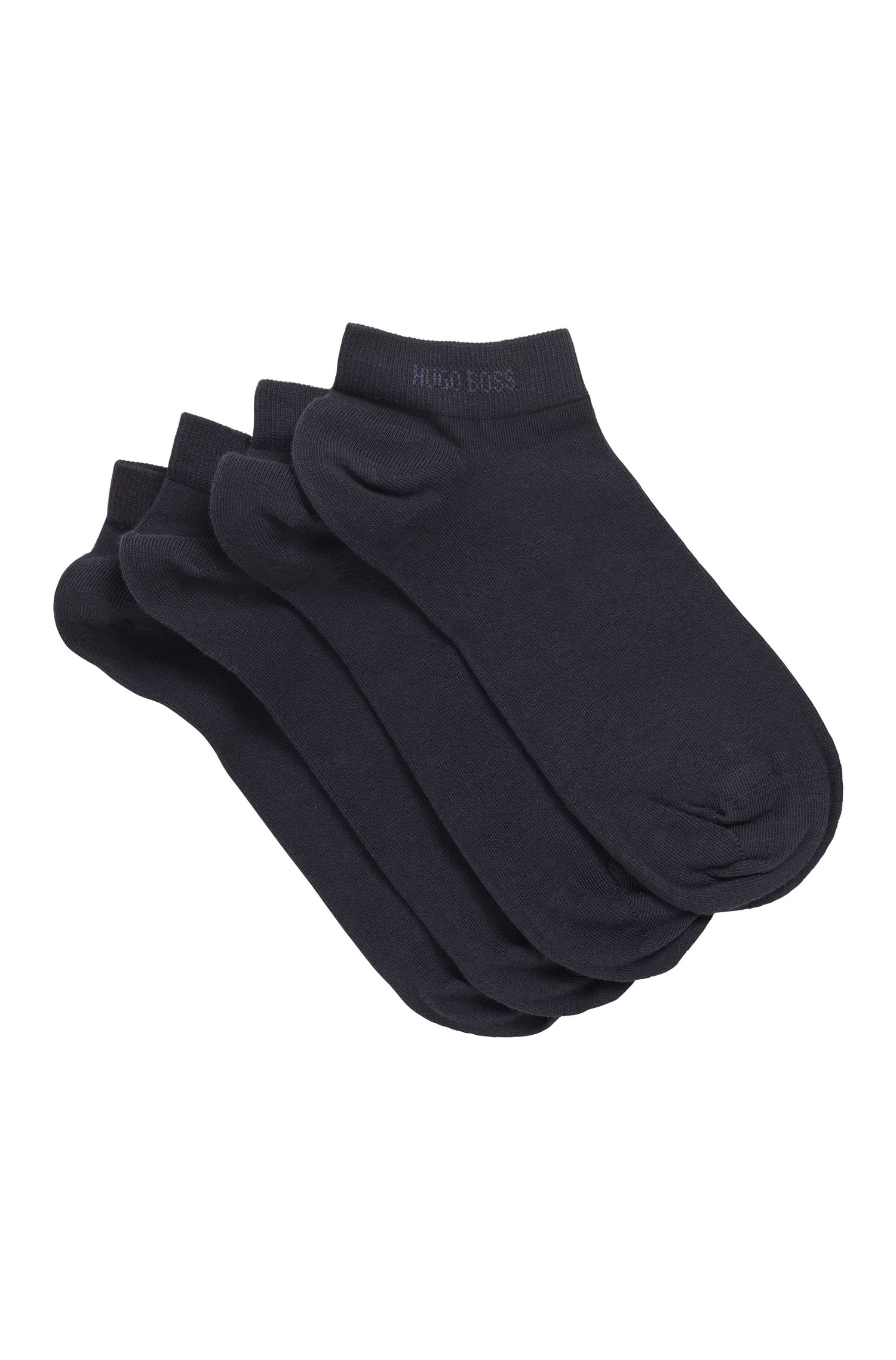 Two-pack of cotton-blend ankle socks, Dark Blue