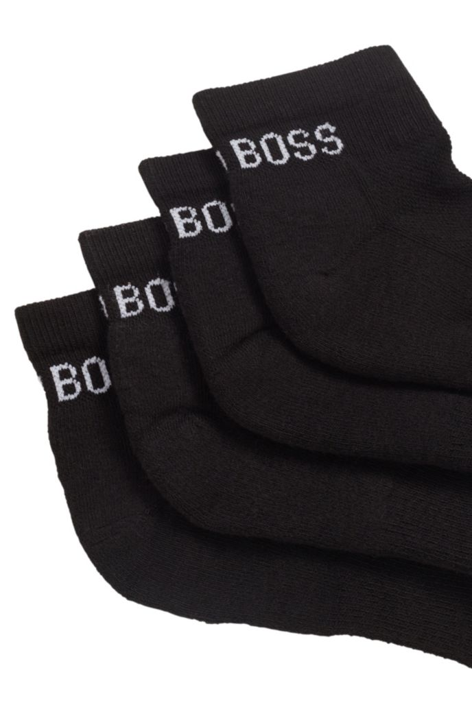 Two-pack of sporty ankle socks in a cotton blend