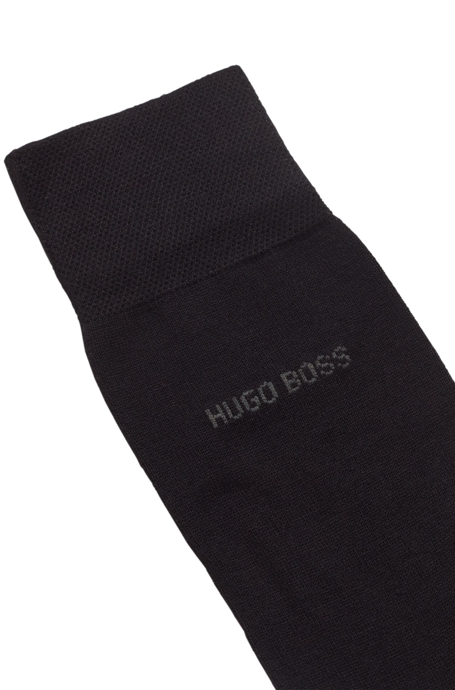 Regular-length socks in technical fabric with bamboo viscose, Black