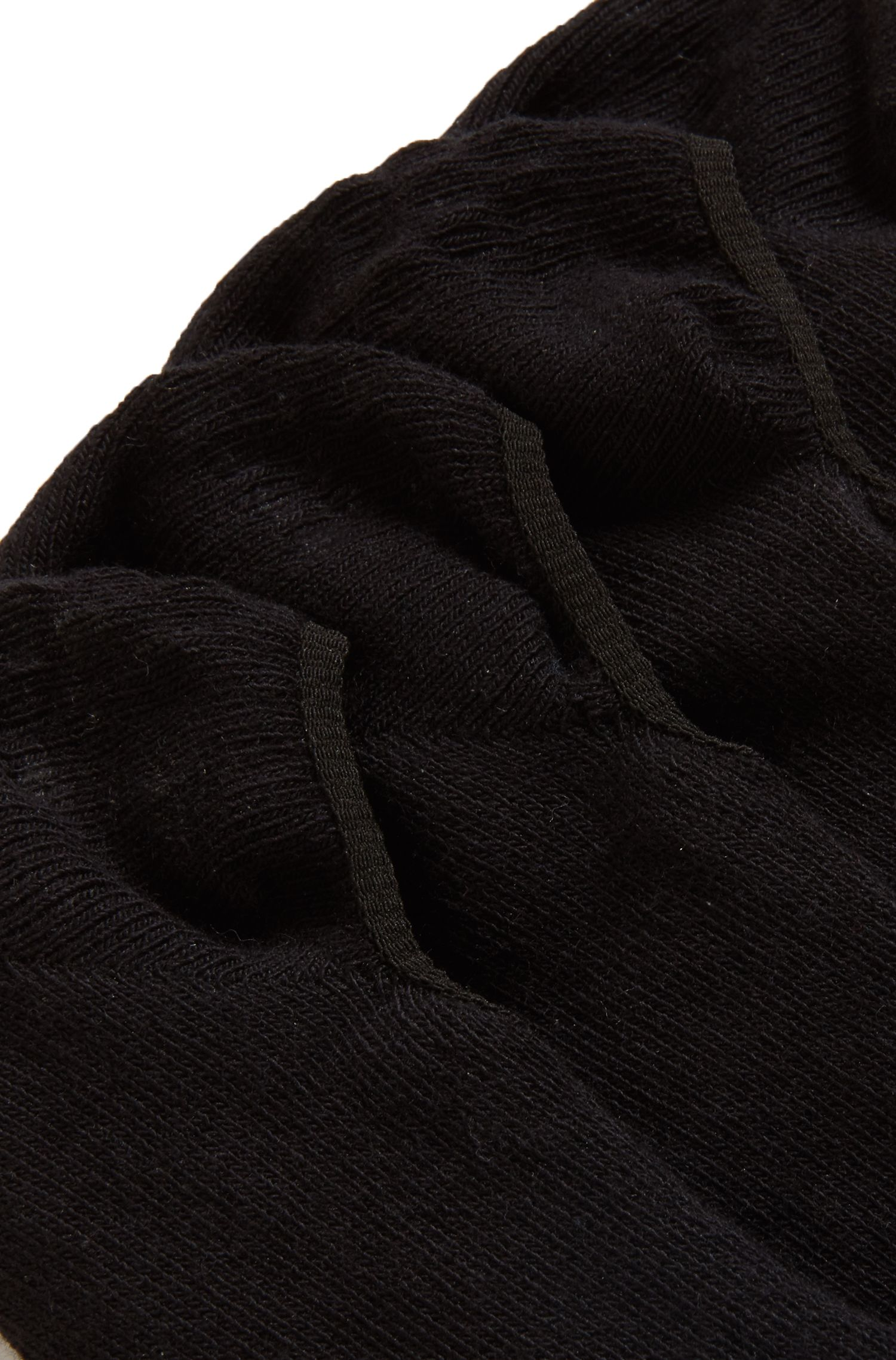 Two-pack of invisible socks finished with silicone, Black