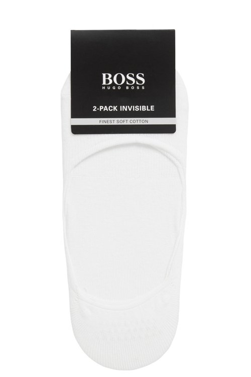 Hugo Boss - Two-pack of invisible socks finished with silicone - 3