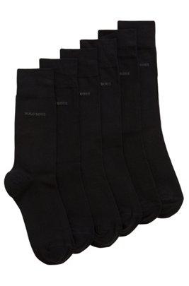 Set van drie paar sokken van een katoenmix met normale lengte, Zwart
