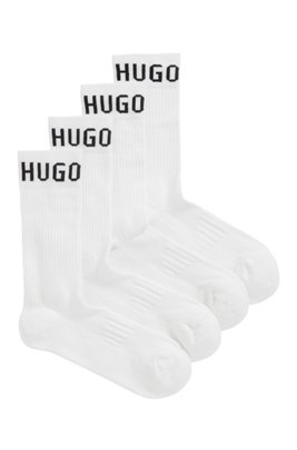 Two-pack of sporty logo socks in a cotton blend, White