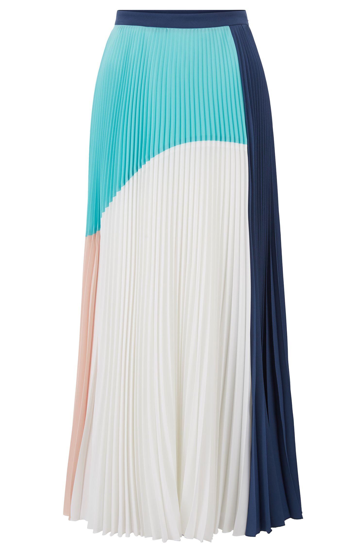 Plissee-Maxirock aus elastischem Material-Mix aus der Gallery Kollektion
