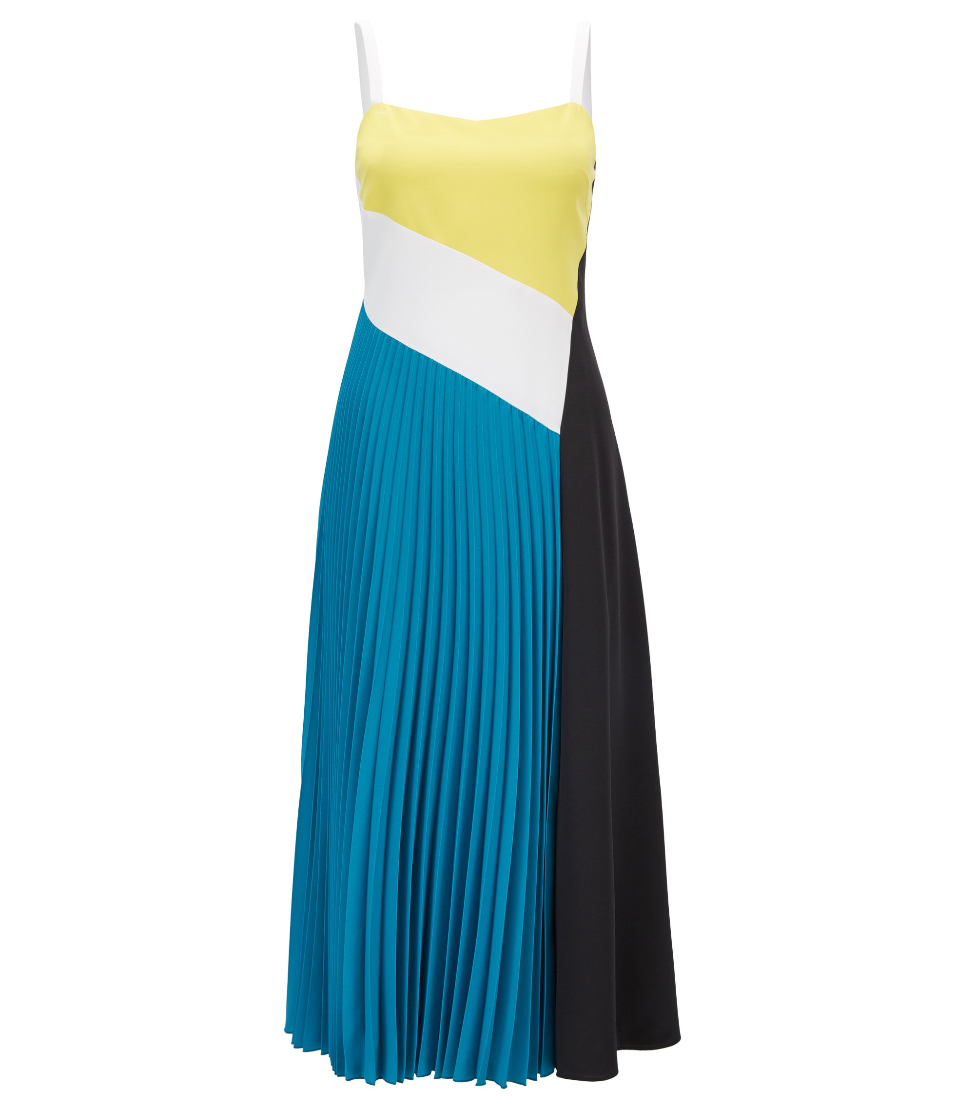 Colour-Block-Kleid aus elastischem Material-Mix aus der Gallery Kollektion, Gemustert
