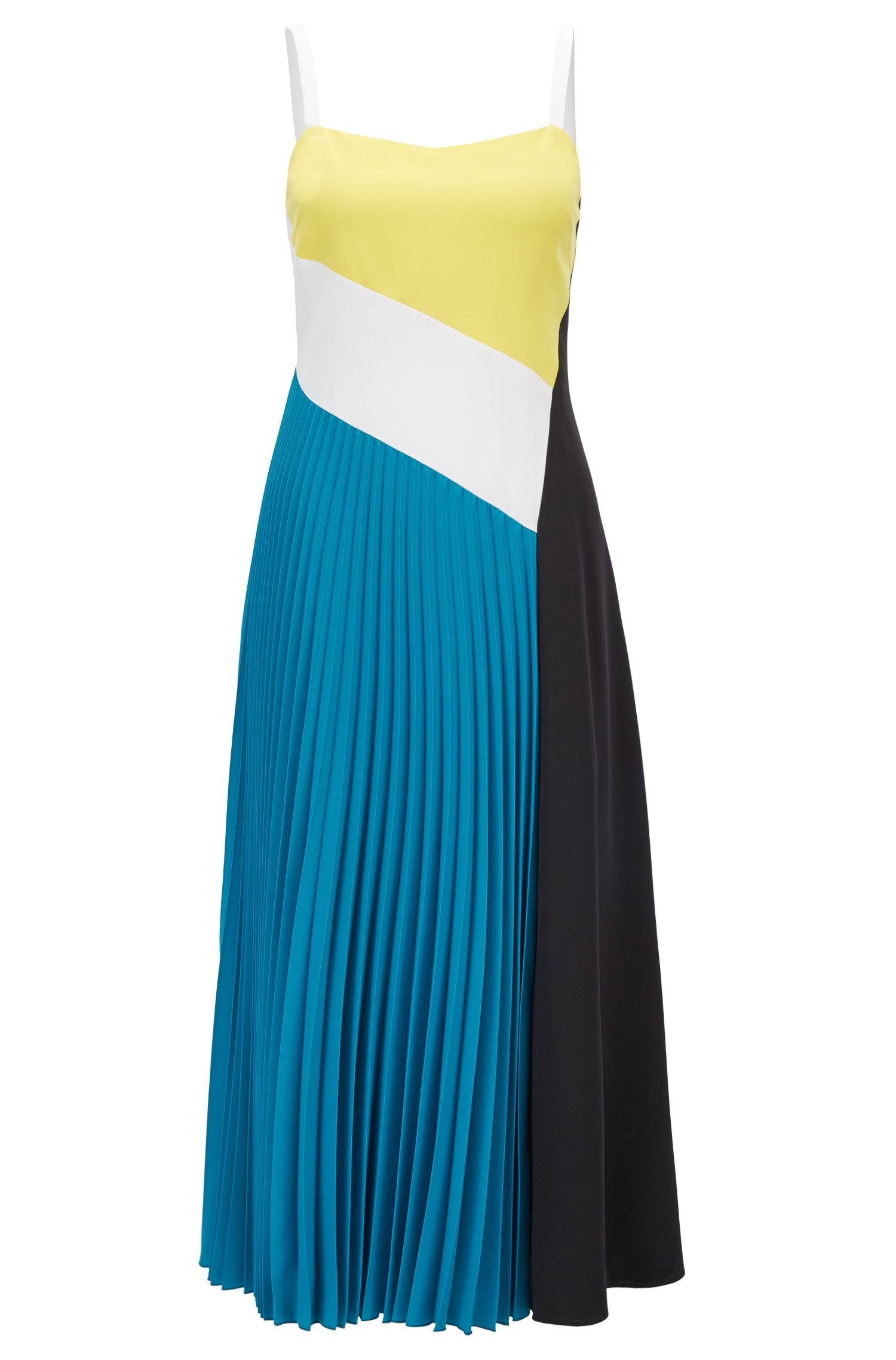 Colour-Block-Kleid aus elastischem Material-Mix aus der Gallery Kollektion