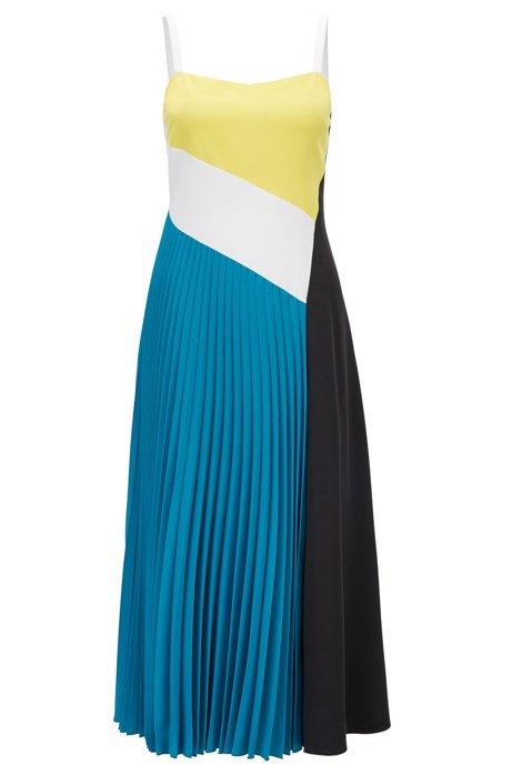 BOSS - Colour-Block-Kleid aus elastischem Material-Mix aus der ...