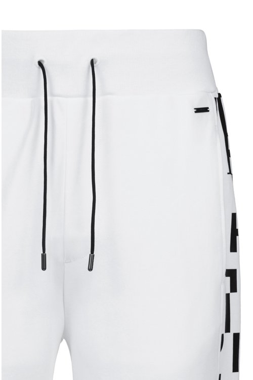 Hugo Boss - Regular-fit cuffed trousers in cotton with printed inserts - 5