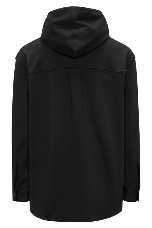Hugo Boss - Button-through hooded sweatshirt in interlock cotton - 4