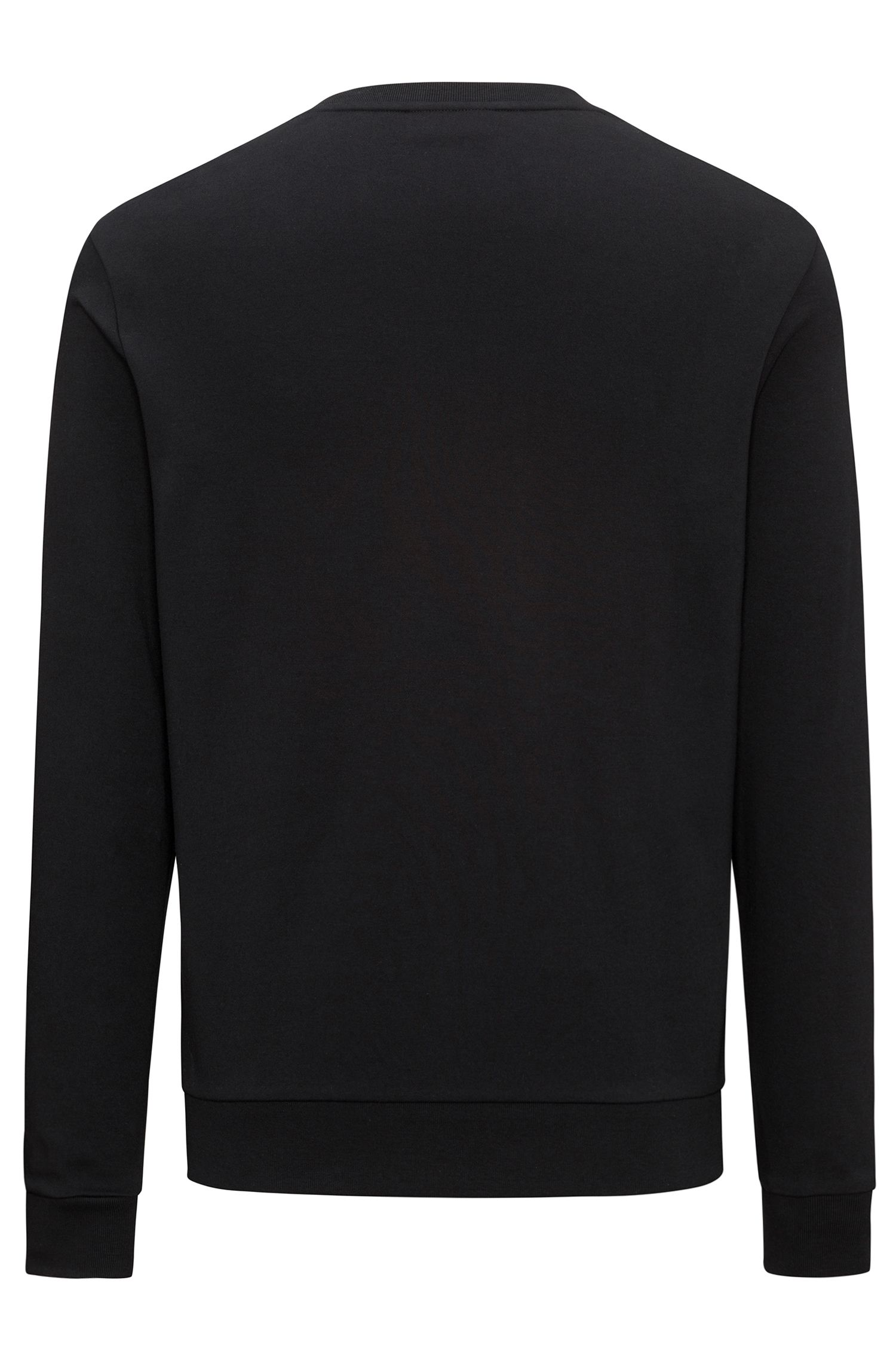 Regular-fit sweatshirt in interlock cotton with reverse logo