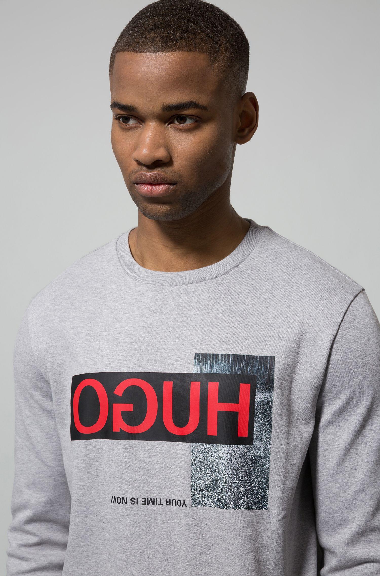 Hugo Boss - Sweatshirt aus  Interlock-Baumwolle mit Reversed-Logo - 3