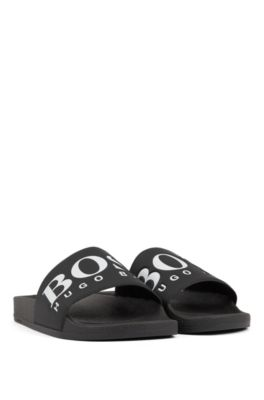pink hugo boss sliders