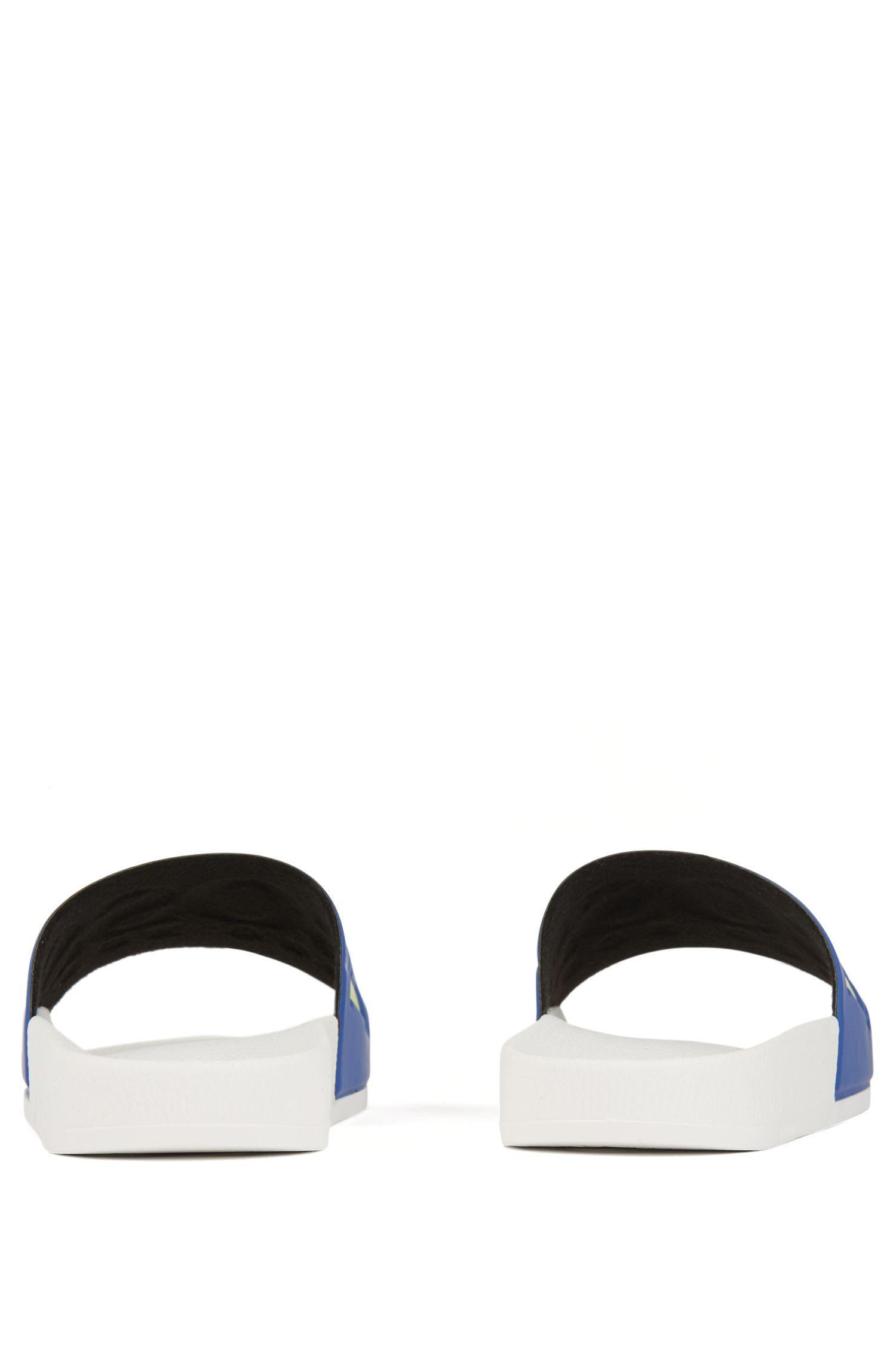 Hugo Boss - Italian-made rubber slide sandals with contrast logo - 5