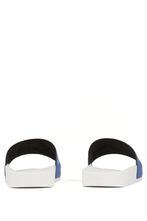 Hugo Boss - Italian-made rubber slide sandals with contrast logo - 5