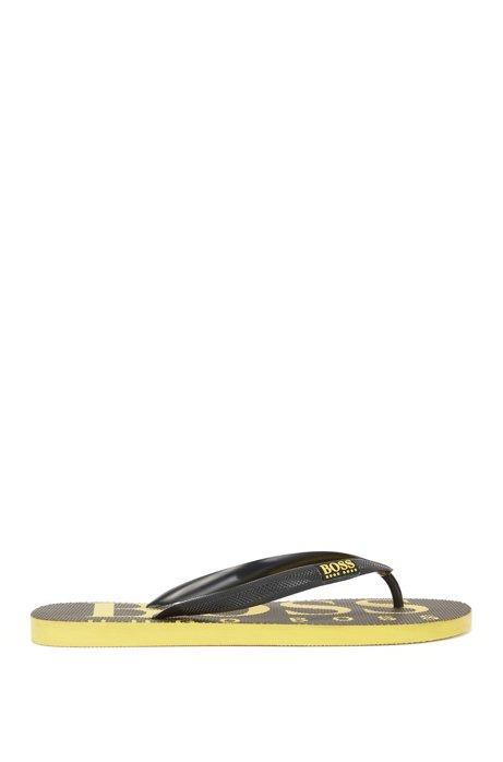 Rubber flip-flops with contrasting logo detail BOSS bw40MvJCQ
