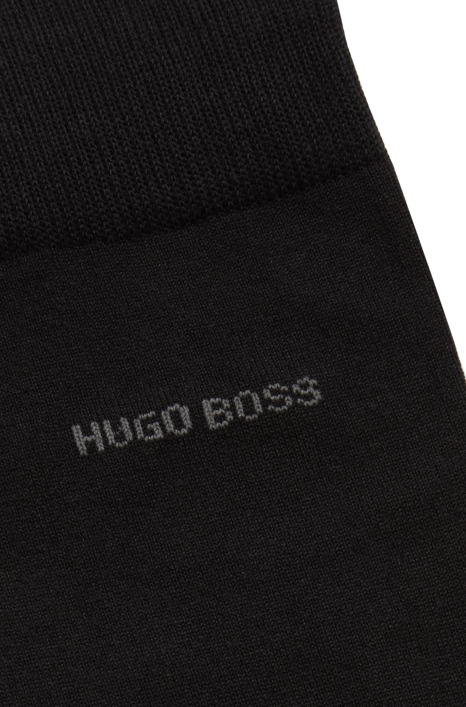 Business socks in an organic Egyptian-cotton blend, Black