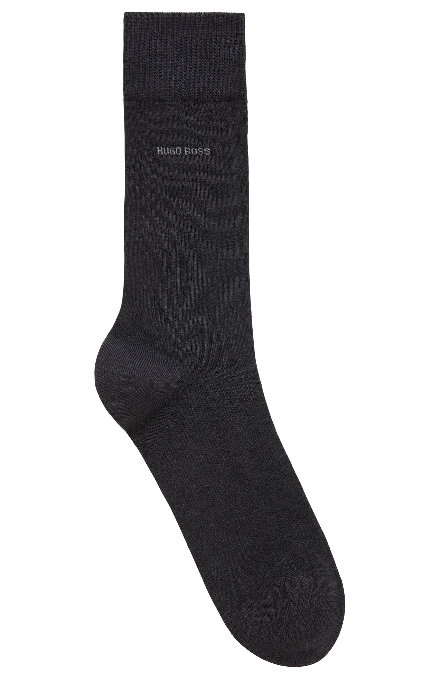 Business socks in an organic Egyptian-cotton blend, Anthracite