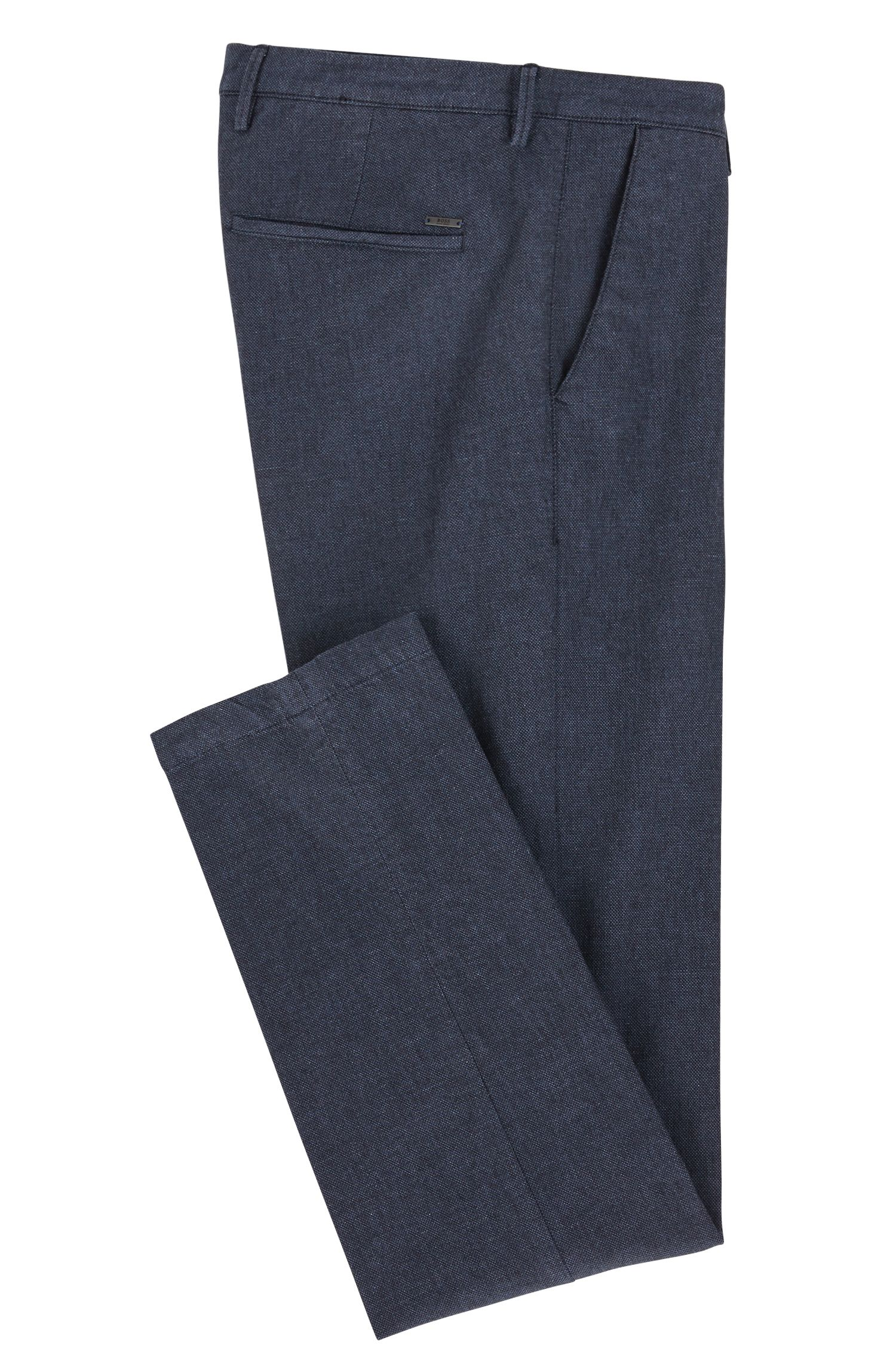 Slim-Fit Chino aus strukturierter Stretch-Baumwolle